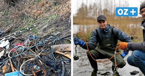 Gefährlich oder ökologisch? Was zwei Rostocker beim Magnetangeln aus der Warnow fischen