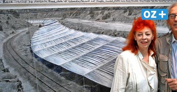 Rerik und Rostock: Frühe Skizzen des Künstlers Christo zu Verhüllungsplänen ausgestellt