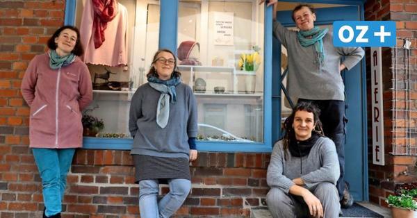 Nicht jammern, sondern machen: Vier Künstlerinnen in Stralsund hatten coole Idee