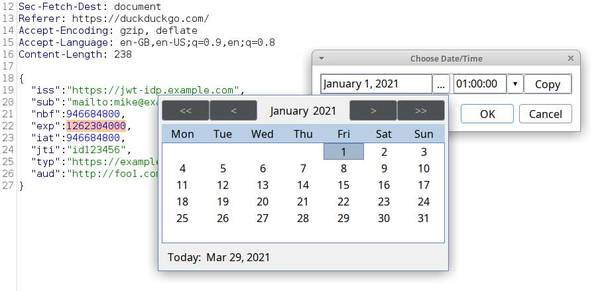 Timestamp Editor extension