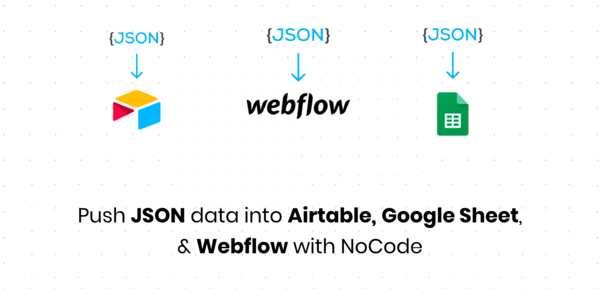 API Connector for your Google Sheet, Airtable, & Webflow
