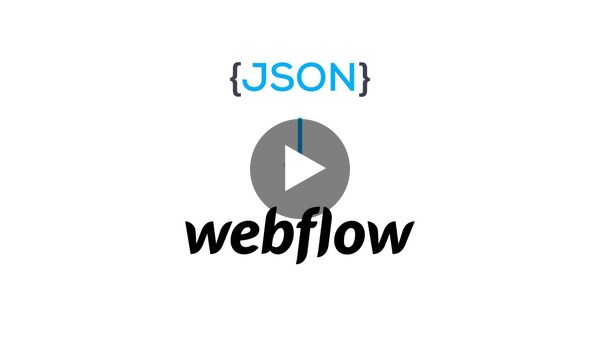 Import JSON data into Webflow - NoCodeAPI