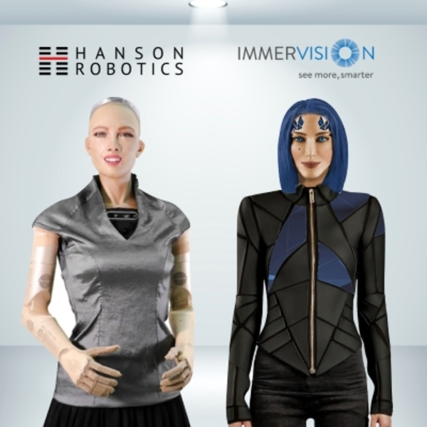 Immervision and Hanson robotics announce sophia the robot will soon have a new sister called Joyce