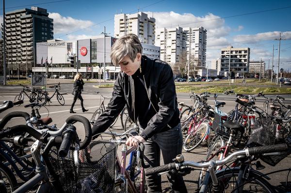 Die Fahrradkultur ist für die Grüne Schneider natürlich programmatisch. Foto: Leonore Köhler