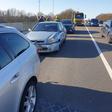Botsing met drie auto's op Drechtbrug