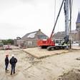 Bouw appartementencomplex 't Lage land is begonnen op de plek van het gelijknamige café