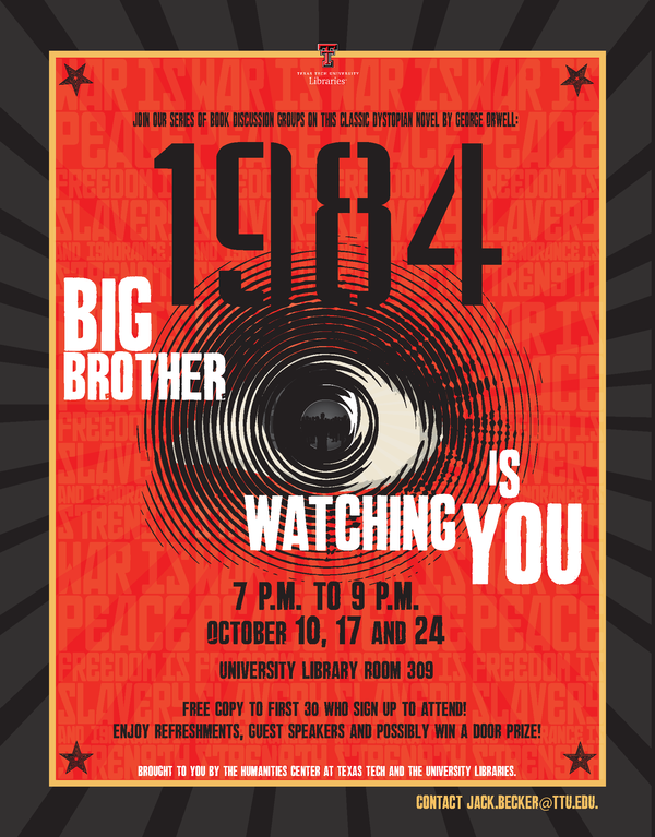 George Orwell's book, 1984 - Big Brother is Watching You. Published in 1949.