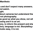 The Photographers Manifesto – The United Nations of Photography