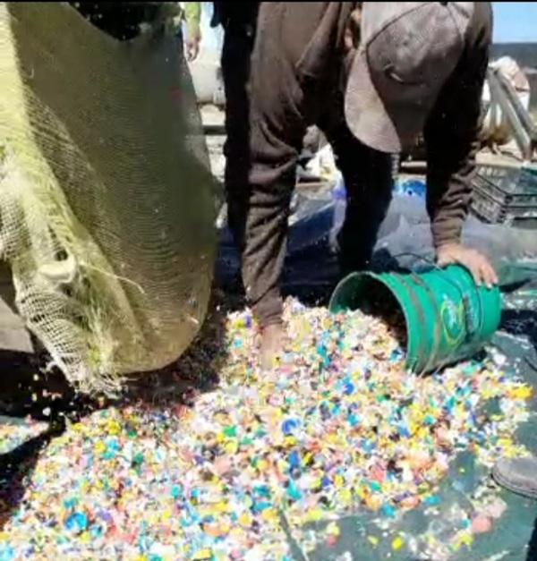 Plastic shredding - No Más Basura