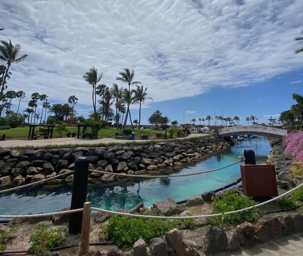 Anfi Beach Club's man-made heart island 🏝️