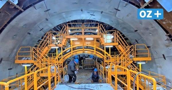 Swine-Tunnel auf Usedom: Die ersten Meter sind geschafft