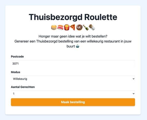🇳🇱 Thuisbezorgd Roulette