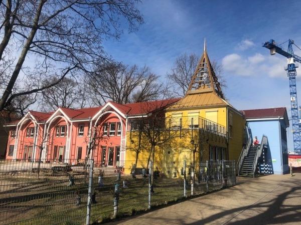Die Fröbelkita am Filmpark in der Emil-Jannings-Straße. Foto: Peter Degener