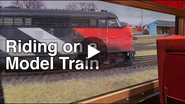 Riding Inside a Model Train