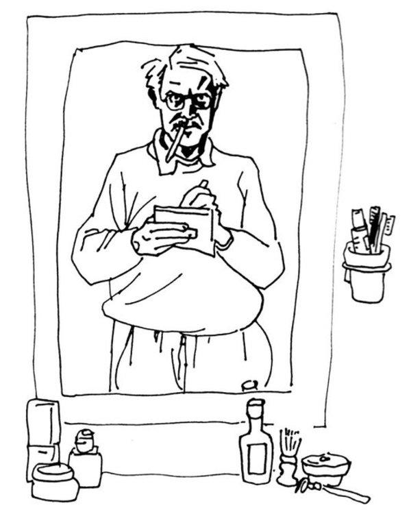Autoportrait de Willem devant le miroir (magique).