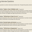 Unpacking Interview Questions