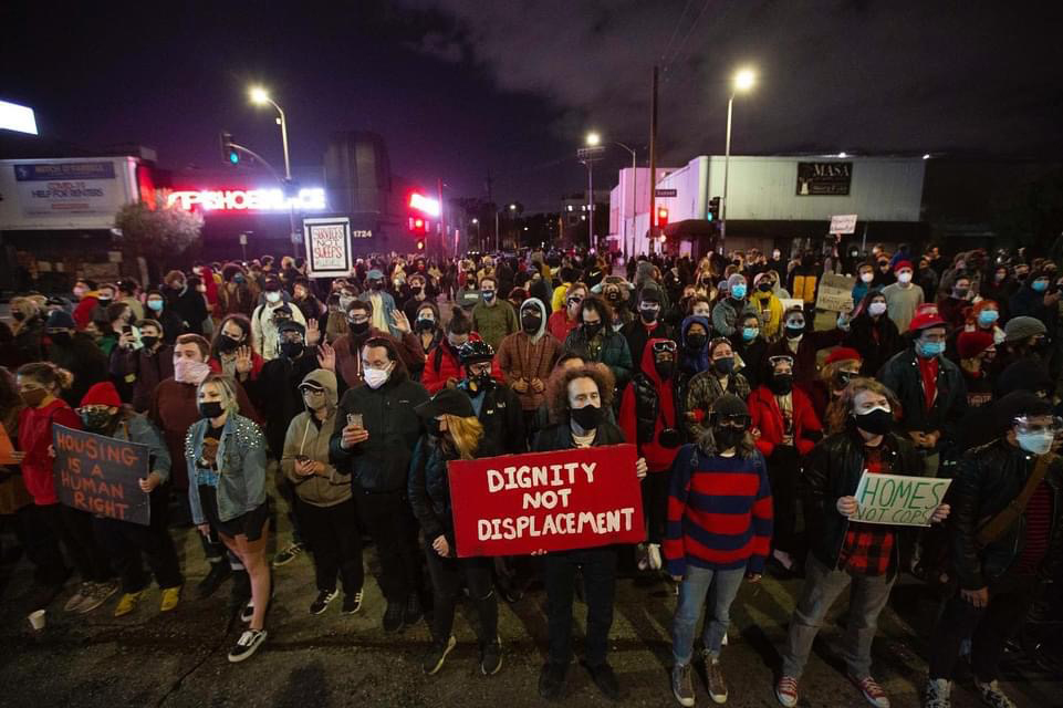 Protests in Echo Park, Los Angeles (photo by Matt Gush)