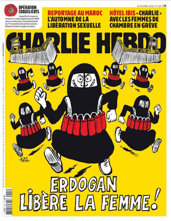 """Le président turc Erdogan, cible privilégiée de """"Charlie-Hebdo"""" (dessin de Riss)"""