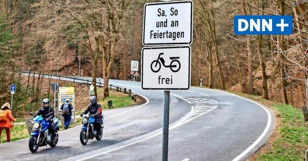 Ehemalige Rennstrecke bei Hohnstein jetzt wieder für Biker gesperrt