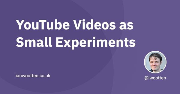 YouTube Videos as Small Experiments