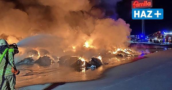 Langenhagen: Nächtlicher Großbrand behindert den Verkehr auf der A2