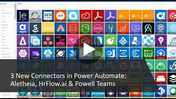 New Power Automate Connectors: Aletheia, HrFlow.ai & Powell Teams