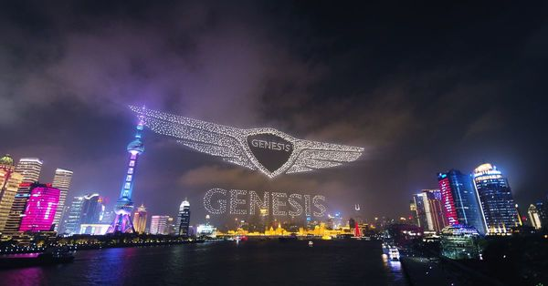 Genesis drone show used a record-breaking 3,281 drones