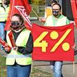 Erneute Warnstreiks und Proteste bei VW und Töchtern in Wolfsburg