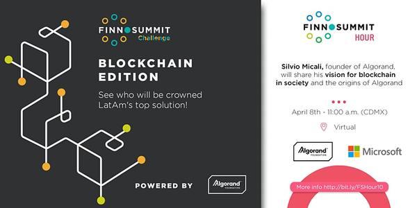 FINNOSUMMIT Challenge: Blockchain Edition Powered by Algorand   9:00 AM