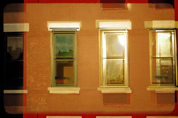 Windows to the Future, New York City, March 2021. This is a photomontage.
