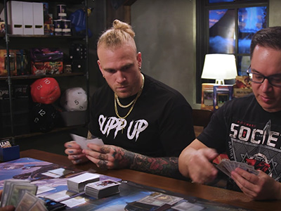 Cassius Marsh playing Magic: The Gathering on Game Knights