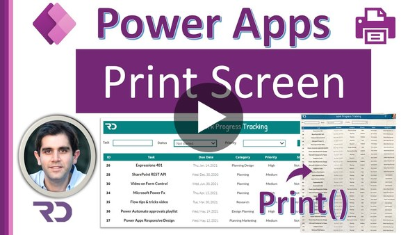 Print Screen in Power Apps - Print Form & Gallery