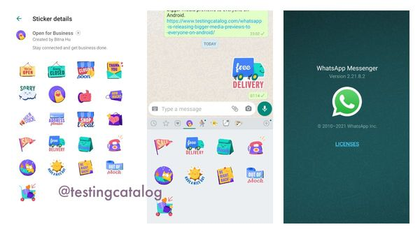 """How to download WhatsApp """"Open for business"""" sticker pack even if it is not available in your region"""