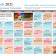 Happiness calendar april 2021