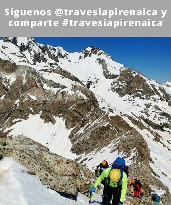 📸 : @jorgechu848 / Llegando a la cima de la Forqueta Norte (3.007 m) con el cresterío Espadas - Posets al fondo.