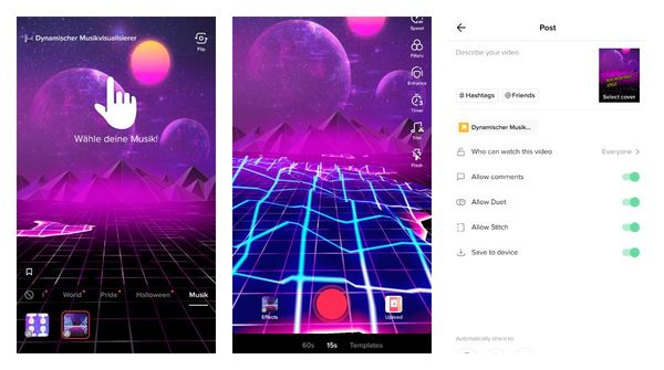 TikTok released Immersive Music Creative Effects to everyone