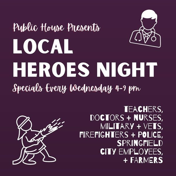 BIG NEWS!! Public House added FARMERS on their list. Wednesday nights it's all about you!