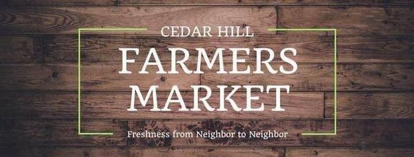 First Cedar Hill Farmers Market of 2021!   Thursday, April 8th 4pm-8pm