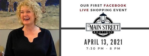 Our 1st Facebook Live Shopping Event!   Tuesday, April 13 @ 7:30 pm