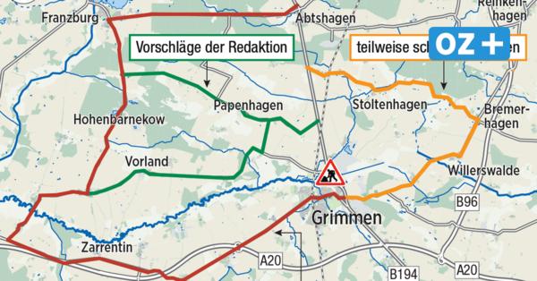 Vollsperrung auf der B 194 bei Grimmen: Das sollten Sie wissen