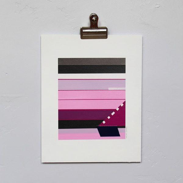 Kaline Carter,  Jackson 15, Acrylic on paper, 14 x 11 in.