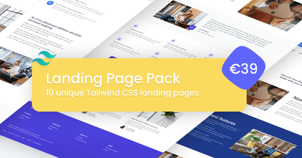 Premium Landing Page Pack for Tailwind CSS