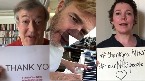 Clap For Our Carers: Celebrities thank NHS staff in heartwarming video