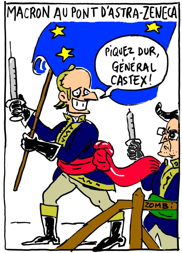 Caricature par Zombi pour le webzine #BD & #caricature Zébra.