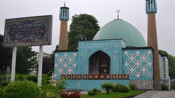 La « mosquée bleue » des bords de l'Alster à Hambourg (LfV, MH)