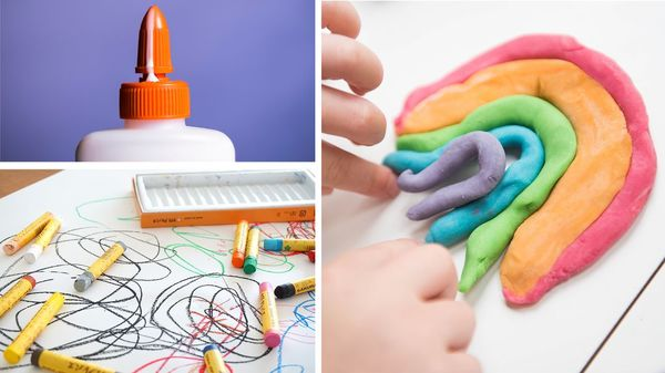 Von Kleber bis Wachsmalstift: So können Sie Bastel-Basics für Kinder selbst herstellen