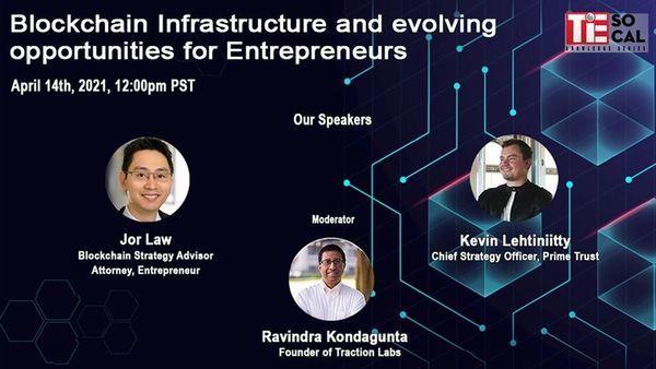 Blockchain Infrastructure and evolving opportunities for Entrepreneurs   12:00 PM