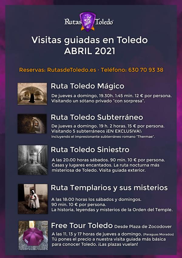 En abril, además de aguas mil, hay muchas visitas guiadas programadas en Toledo. ¡Reserva tu ruta!
