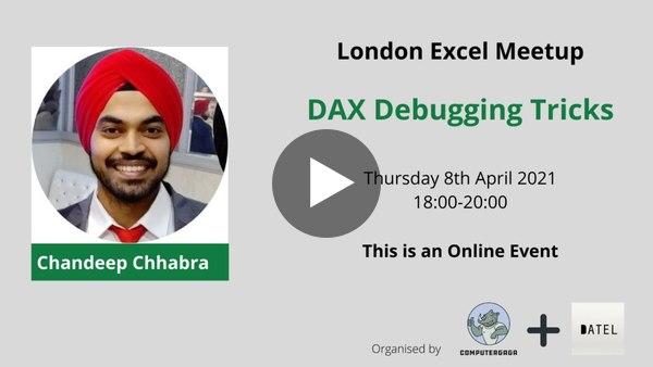 DAX Debugging Tricks from Chandeep Chhabra