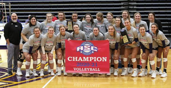 UMHB volleyball captured its fourth ASC title on Saturday (Photo by David Morris, Provided by the UMHB Athletics Department